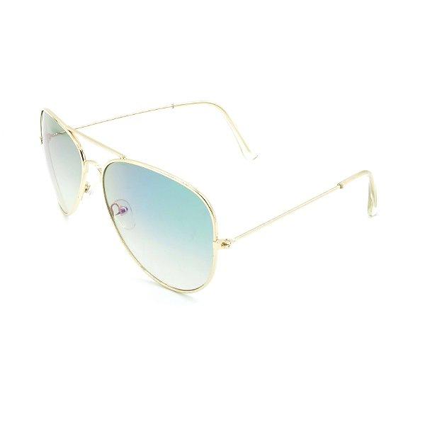 Óculos Solar Prorider Dourado Com Lente Degradê Azul - H3025