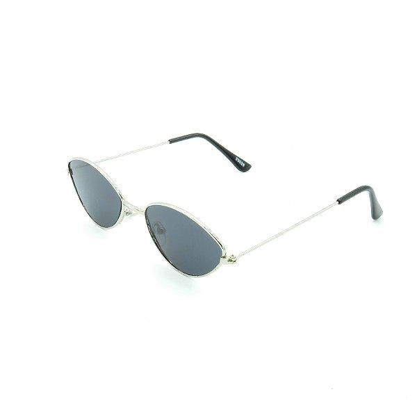 Óculos de Sol Retro Prorider Prata com Lente Fumê - 23026