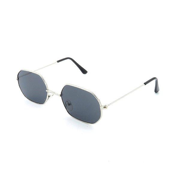 Óculos de Sol Prorider Prateado Brilhante com Lente Fumê - OP3210C1