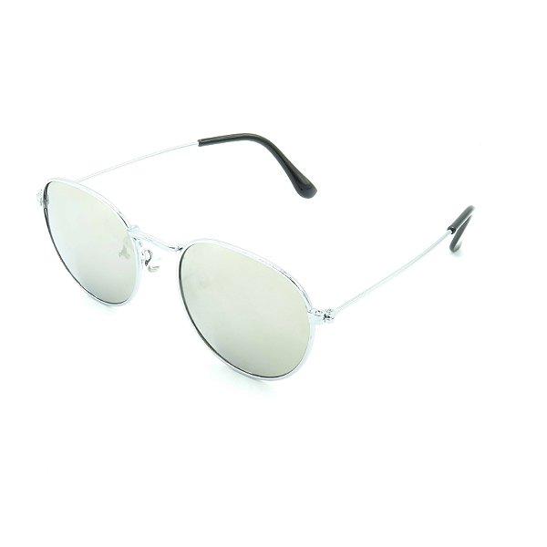 Óculos de Sol Prorider Prateado Brilhante com Lente Espelhada Prateada - OP3210C4