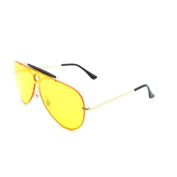 Óculos de Sol Prorider Otto Dourado com Lente Amarela - JW2117C1