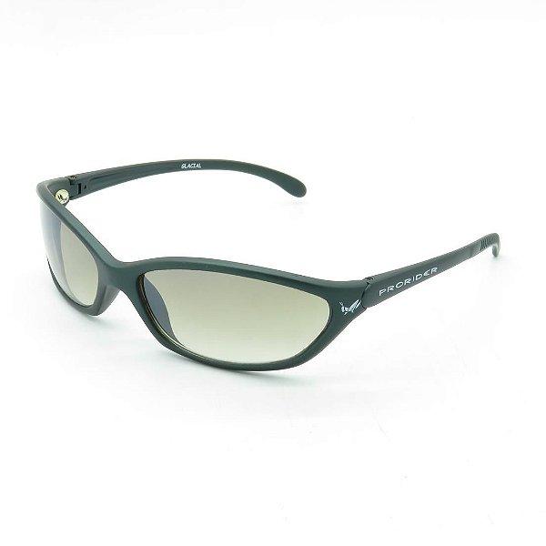 Óculos de Sol Prorider Retrô Verde Acinzentado Fosco com Lente Degradê Amarelado - GLAC1AL