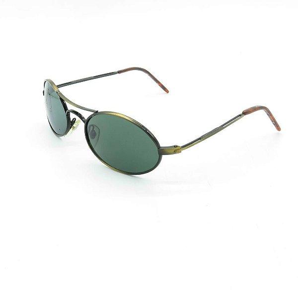 Óculos de Sol Prorider Retrô Dourado Fosco com Lente Fumê Esverdeada - GV-959004