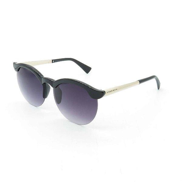 Óculos Solar Prorider Preto e Dourado Com Lentes Degradê Roxa - RM5004