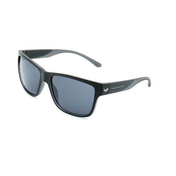 Óculos de Sol Prorider Preto Fosco Detalhado com Lente Fumê - HS0369-C4