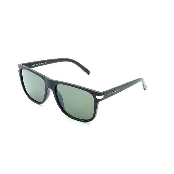 Óculos de Sol Prorider Preto Fosco Detalhado com Lente Fumê Esverdeada - CJH72161-C5