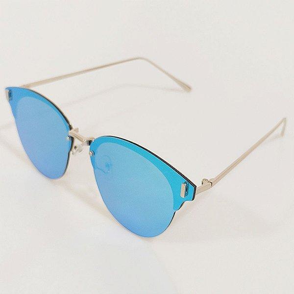 Óculos de Sol OTTO Azul e Prata