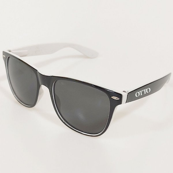 Óculos de Sol Otto Wayfarer Preto e Branco