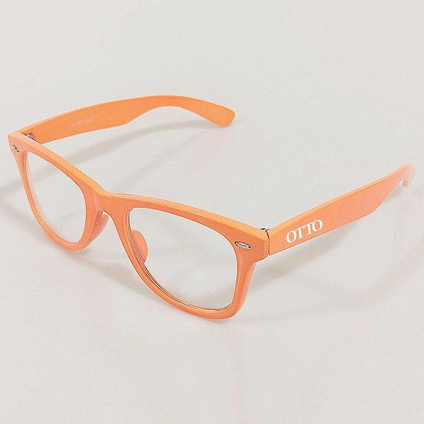 Óculos de Grau Otto Wayfarer Laranja