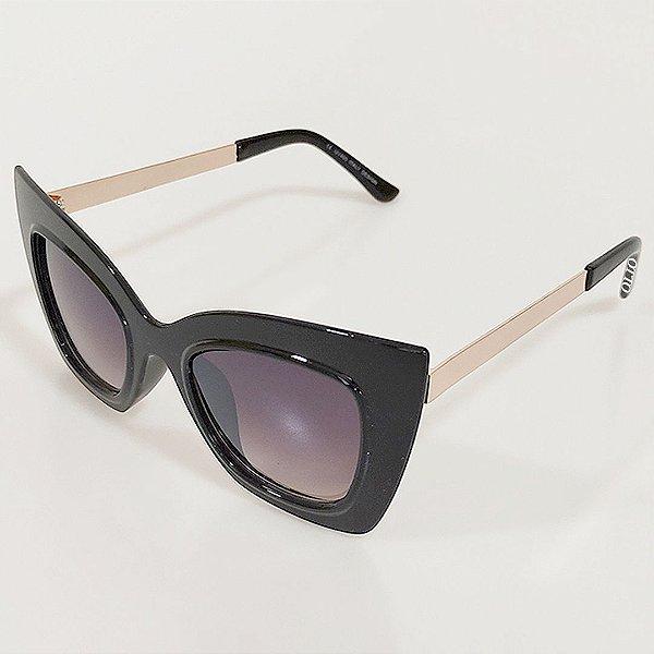 Óculos de Sol Otto Gatinho Preto e Dourado