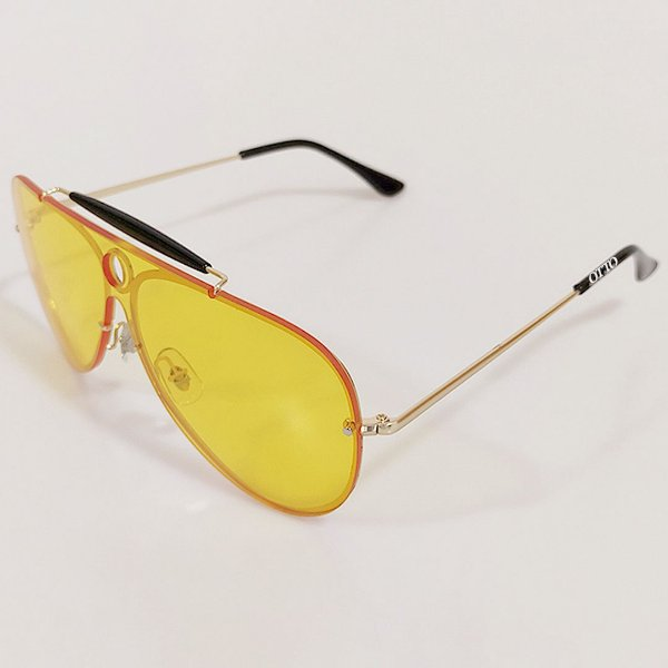 Óculos de Sol Otto Aviador Retrô Dourado