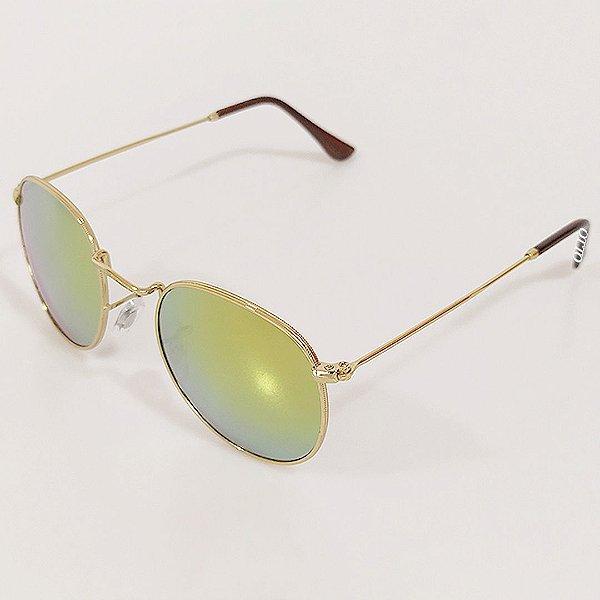 Óculos de Sol Otto Redondo Dourado