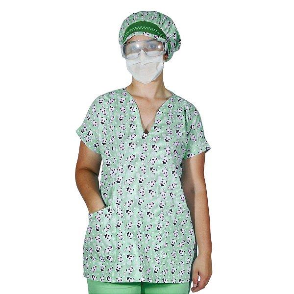 Pijama Cirúrgico Feminino  Estampado- Scrub Camisa