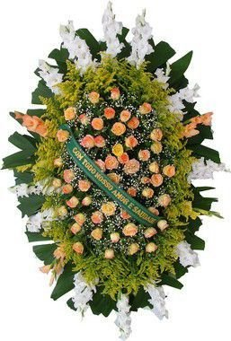 Coroa de Flores Brasília 12 | Entrega Grátis | Dizeres Grátis