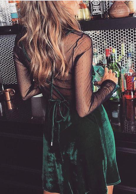 Vestido Green Velvet
