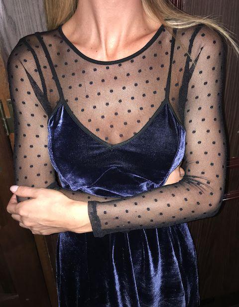 Vestido Kiss Me Azul Marinho