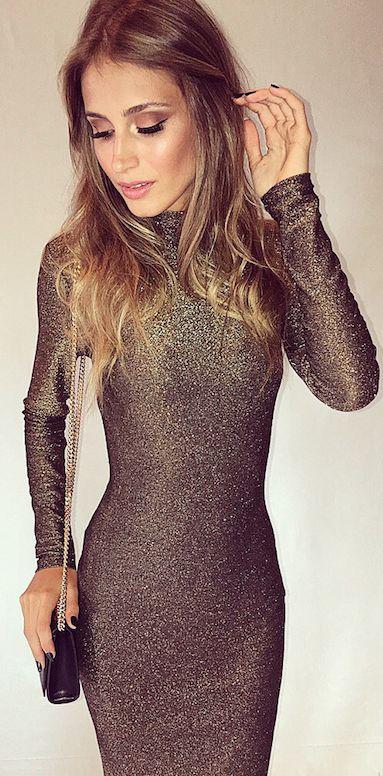 Vestido After Party Dourado