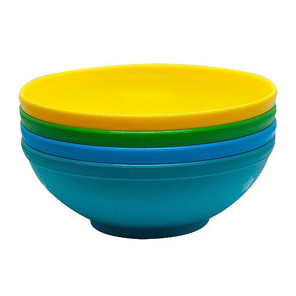 Conjunto de Bowls Grande 500ml (4 unidades) Azul