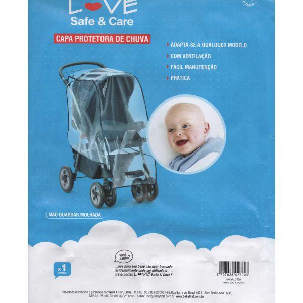 Capa de chuva para carrinho de bebê (Tamanho universal)