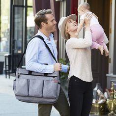 Bolsa Maternidade - Diaper Bag - Duo Double Signature - Heather Grey