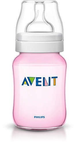 Mamadeira Avent Feeding Bottle Rosa 260 ml