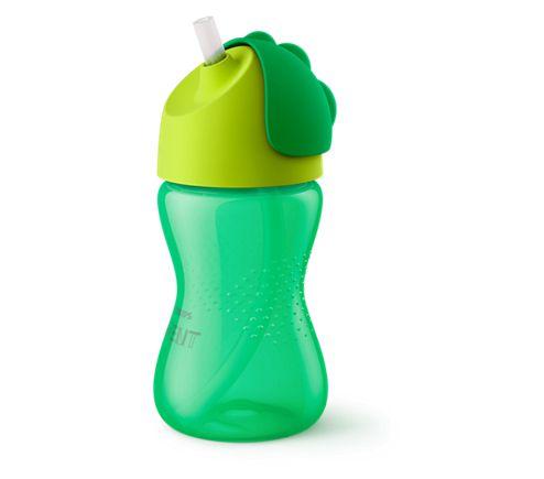 Copo Straw Cups com canudo Verde Avent (Dinossauro)