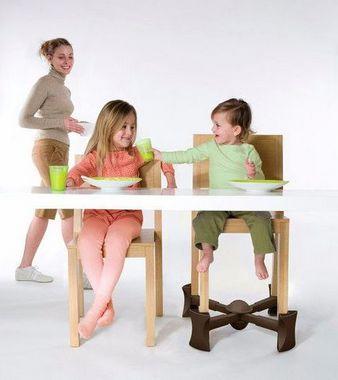 Kaboost Portable Chair Booster - Base Extensora Portátil para Cadeiras Chocolate
