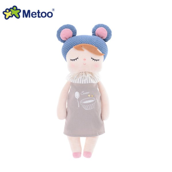 Boneca Metoo Angela Doceira Retro Bear Azul 33cm