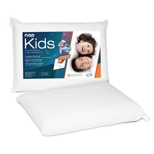 Travesseiro Viscoelástico Nap Kids Branco