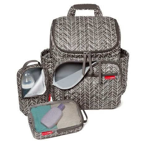 Mochila de Maternidade Forma Backpack Grey Feather