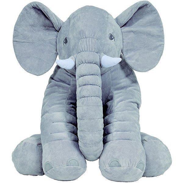 Almofada Elefante Gigante Cinza