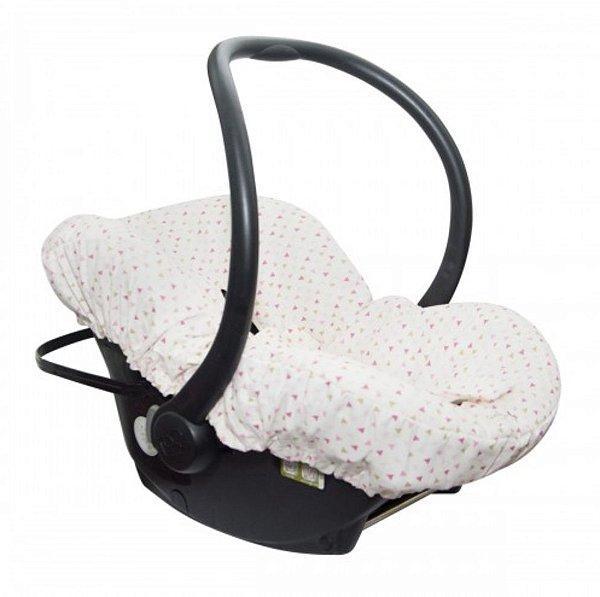Capa para Bebê Conforto Mini Triangulos Candy Tree