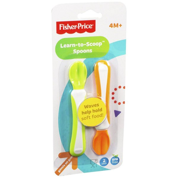 Colheres Fisher Price Learn-to-Scoop