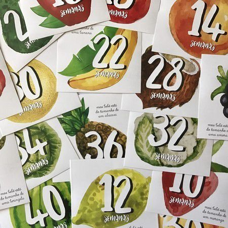 17 adesivos para registrar os momentos da gravidez