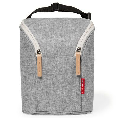 Bolsa térmica para mamadeira Grey Melange Skip Hop (Double Bottle Bag)