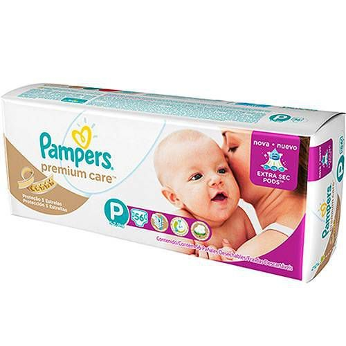 Fralda Pampers P Premium Care (56 unidades)
