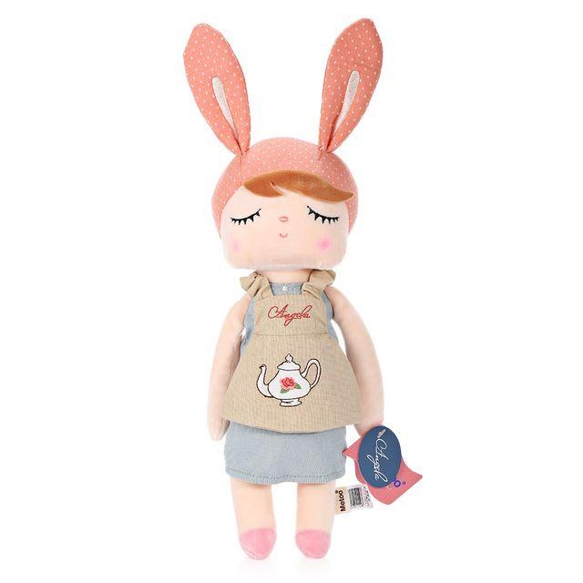 Boneca Metoo Angela Doceira Retro Bunny Rosa 33cm