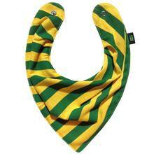 Babador Bandana Listrado Verde e Amarelo