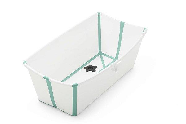 Banheira Stokke Branca com Verde