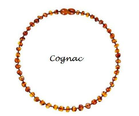 Colar de Ambar Baroque Cognac - 32cm