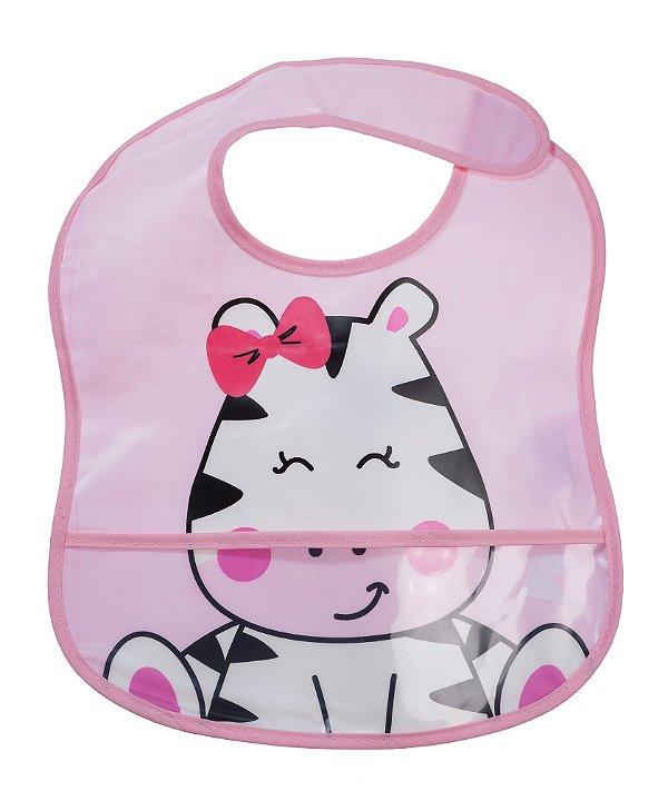 Babador Impermeável Amiga Zebra