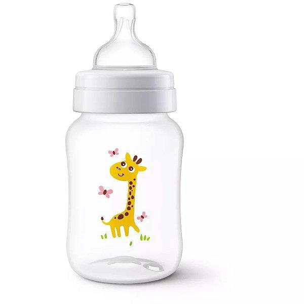 Mamadeira Avent Clássica Decorada 260ml Girafa