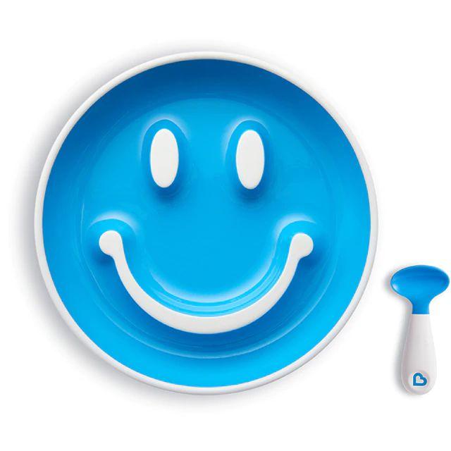 Prato Smile com Ventosa e Colher Azul