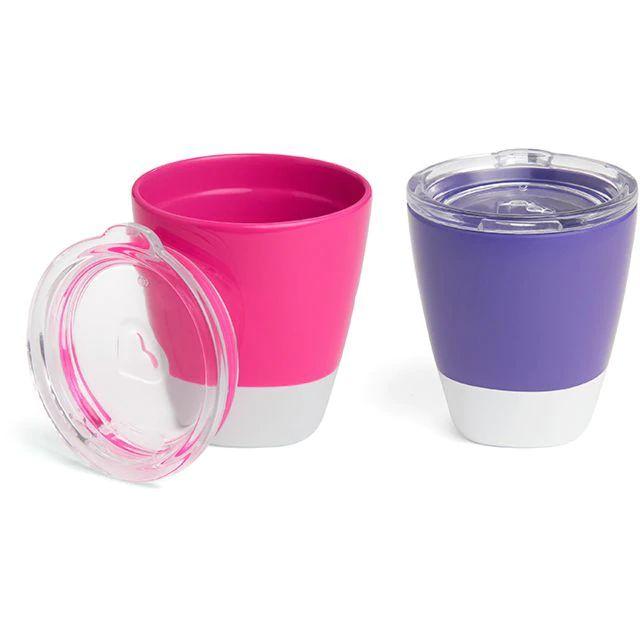 Conjunto com 2 Copos com Tampa Roxo e Rosa Munchkin (Splash Toddler Cups)