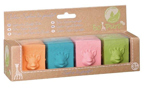 Cubes So Pure Sophie La Girafe (4 Cubos 100% Borracha Natural)