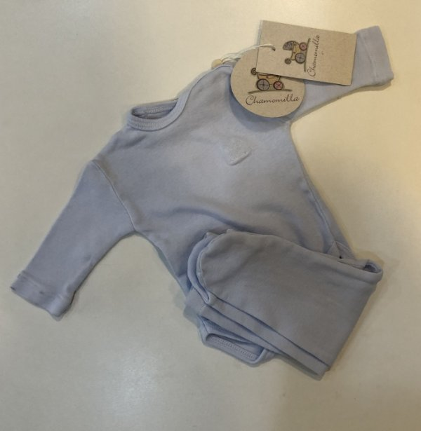Conjunto Chamomilla com Body e Calça Azul