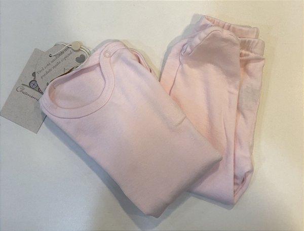 Conjunto Chamomilla com Body e Calça Rosa