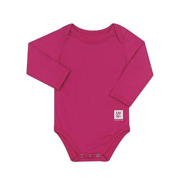 Body Infantil com proteção UV Pink
