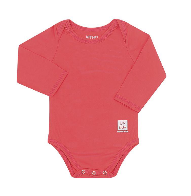 Body Infantil com proteção UV Orange