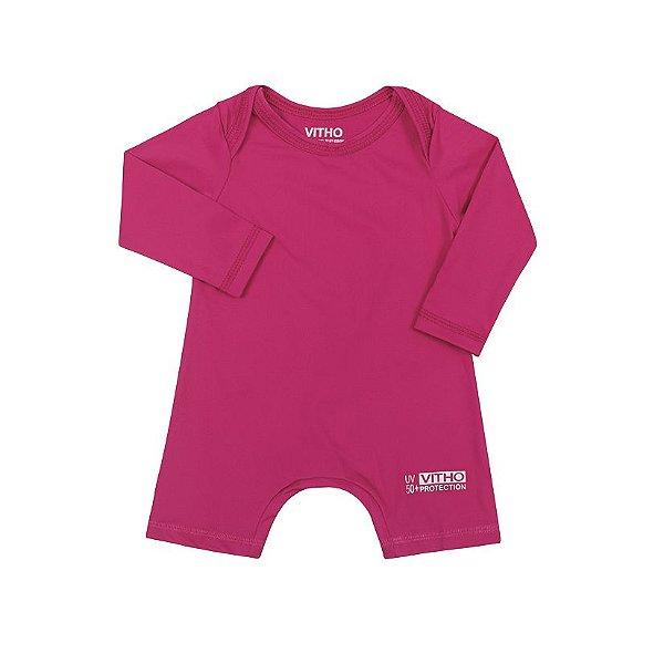 Macacão Infantil com proteção UV Pink